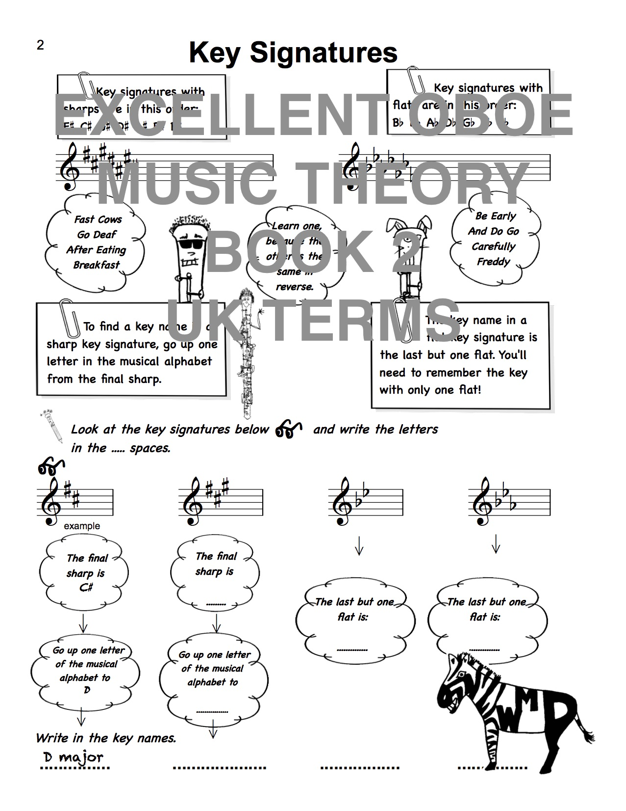 The Excellent Oboe Music Theory Book 2