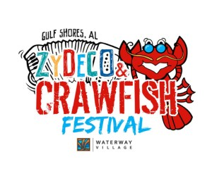The Waterway Village Zydeco & Crawfish Festival Gulf Shores Logo