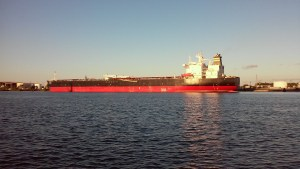 Empty Cargo ship