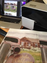 printing photos from Bodie's ghost town on fabric