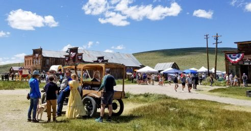 bodie day 2019 crowds old cars horses mules