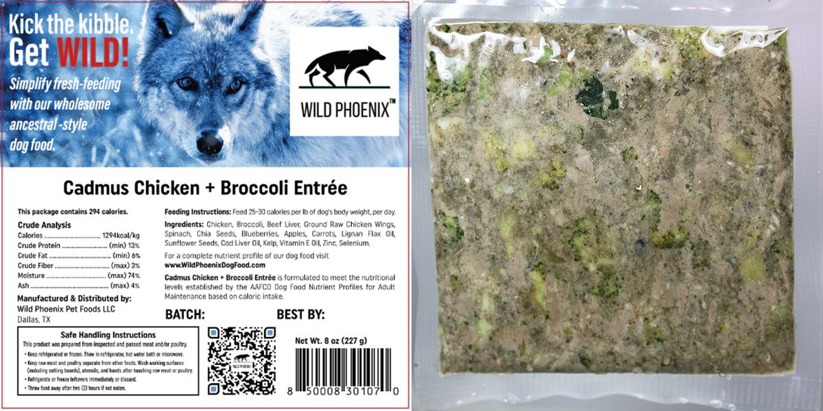 Cadmus Chicken + Broccoli Entrée (8oz) Individual Packet