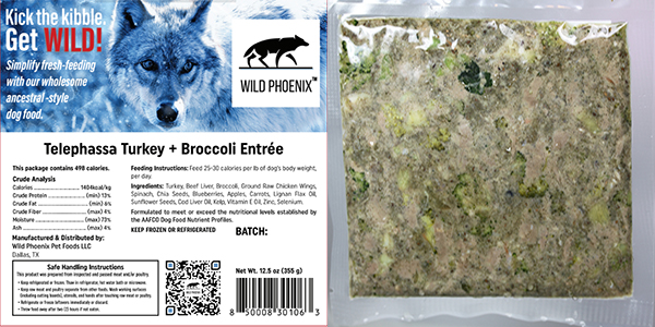 Telephassa Turkey + Broccoli Entrée (12.5 oz) – Individual Packet