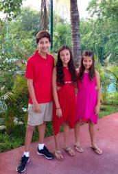all 3 kids at 6th grade dinner