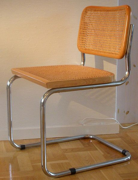 Modern style chair, designed by Marcel Breuer.