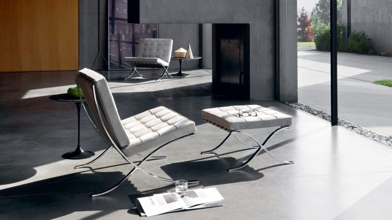 Barcelona Chair, a piece of modern furniture by Mies van der Rohe and Lilly Reiche