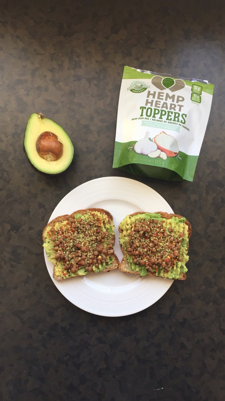 Onion, Garlic & Rosemary Hemp Avocado Toast