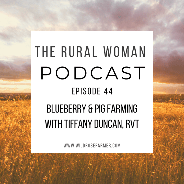 The Rural Woman Podcast Episode 44 – Blueberry & Pig Farming with Tiffany Duncan, RVT