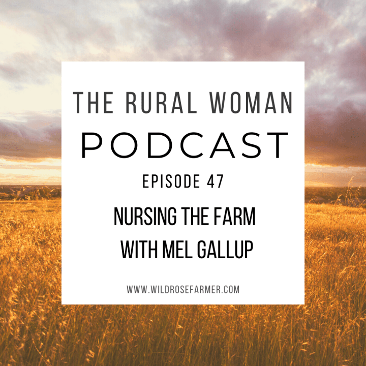 The Rural Woman Podcast Episode 47 – Nursing The Farm with Mel Gallup