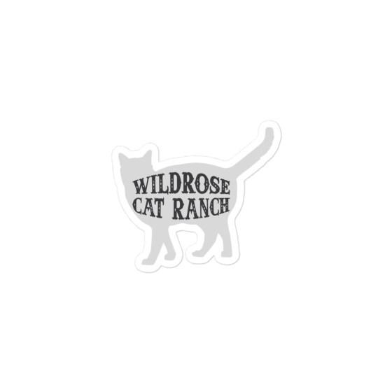 Wildrose Cat Ranch Cat Sticker