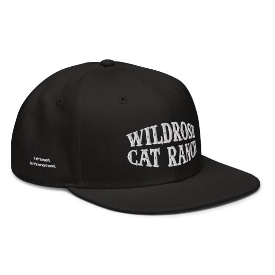 Wildrose Cat Ranch Hat Black Snapback