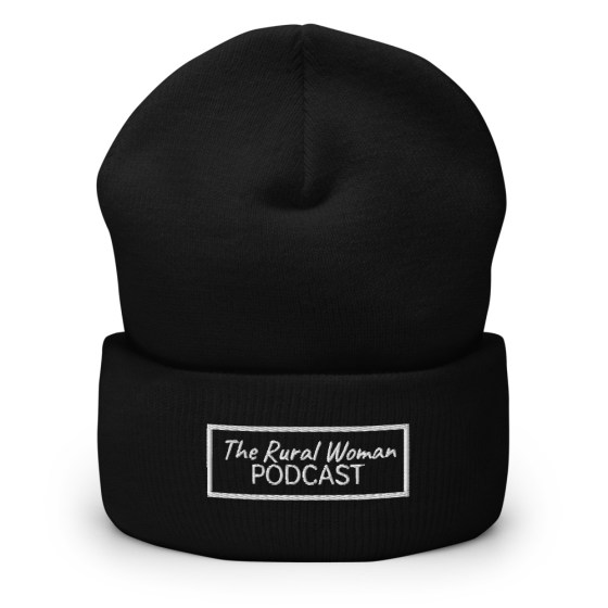 The Rural Woman Podcast Toque Black