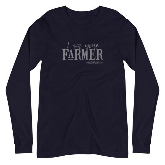 I Am Your Farmer Unisex Long Sleeve Navy