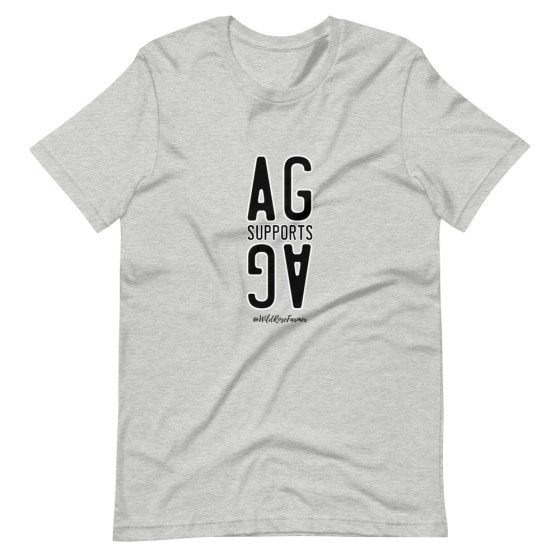 Stacked Ag Supports Ag T-Shirt Grey