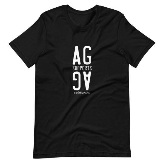Stacked Ag Supports Ag T-Shirt Black