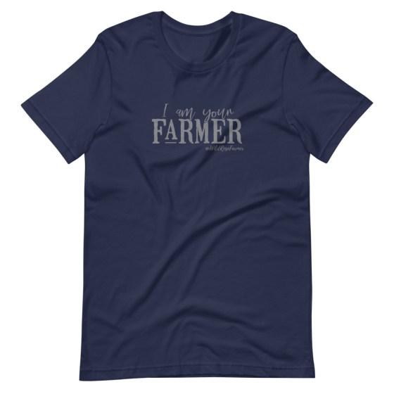 I am Your Farmer Unisex T-Shirt Navy