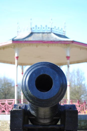 Close up on a canon barrel, The People's Park, Waterford.