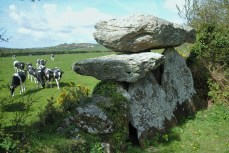 Knockeen Dolmen, Co. Waterford. The top stone is about 10 feet from the ground.