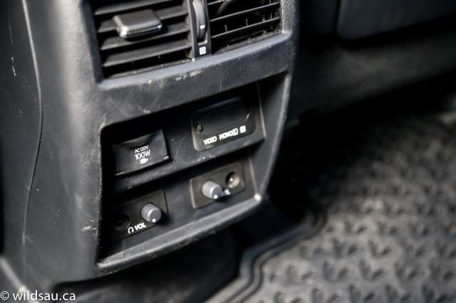 rear seat console