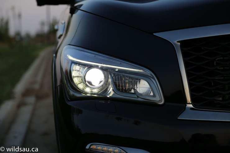 headlight lit