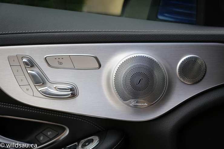 seat controls speaker