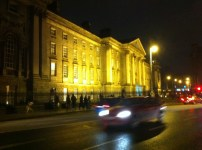 Trinity College by night..out of focus
