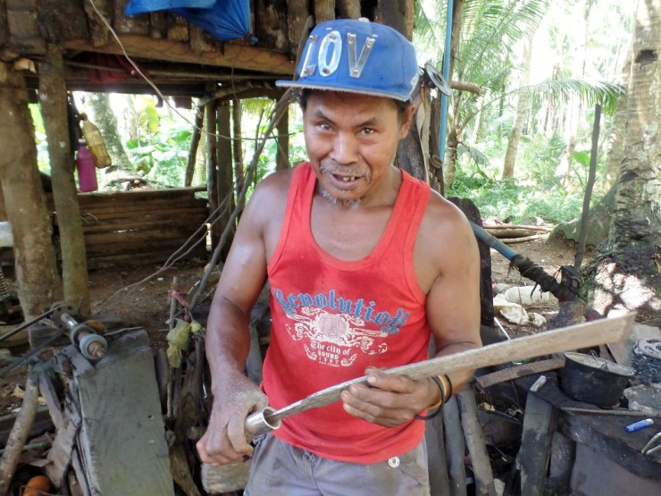 Machete Making on Siargao Island in the Philippines.