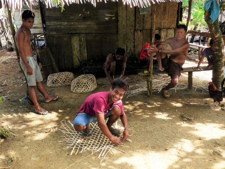 These woven traps are called 'pangal' and used solely for crab fishing. Siargao Island in the Philippines.