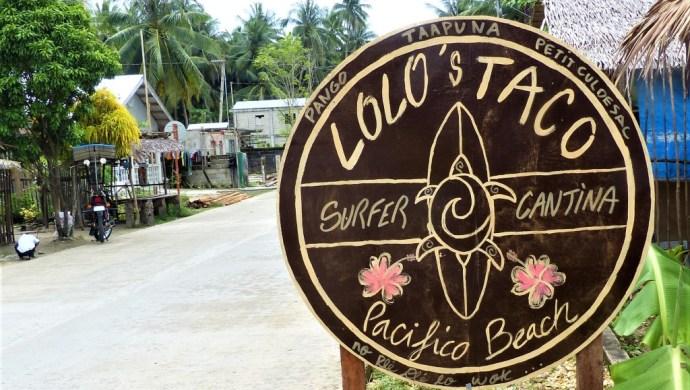 Lolo's Taco Surfer Cantina Pacifico Beach Siargao