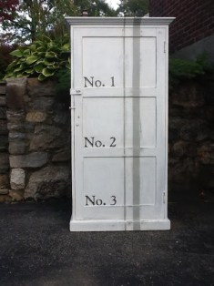 Grain Sack Cubby Cabinet