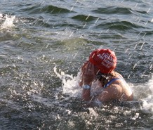 Lottie splashes about