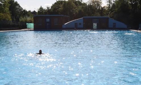 Sunshine swimming