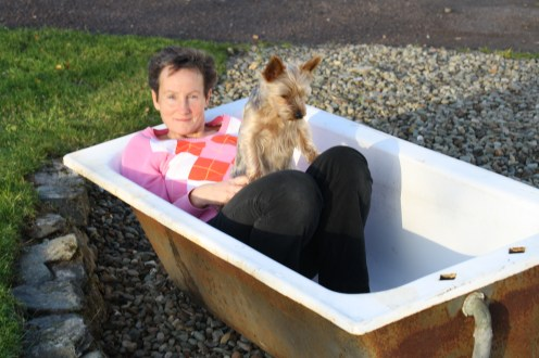 Me and Daisy in the tub