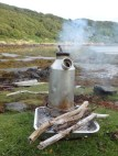 Kelly kettle in action