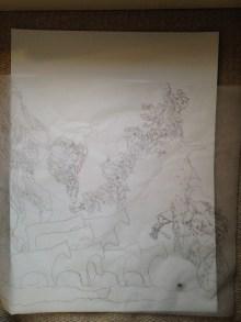 Tracing previous drawings