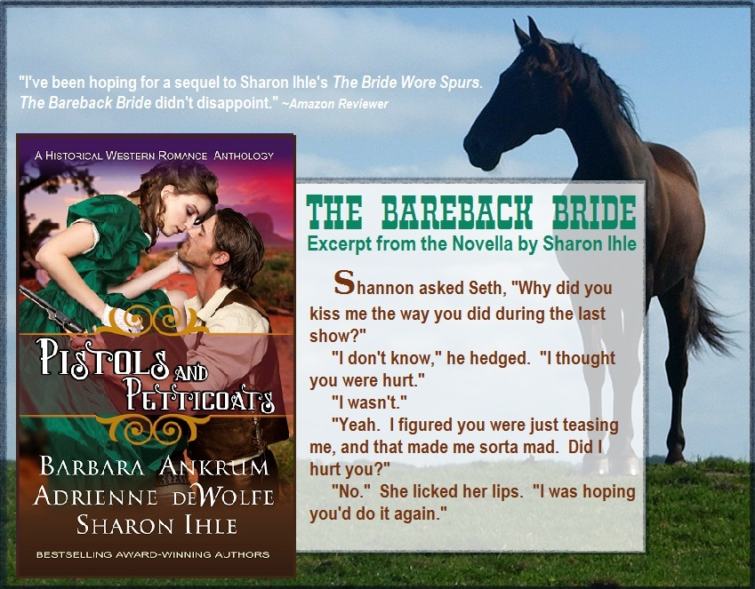 Pistols and Petticoats, Western historical romance novel anthology, novella, Barbara Ankrum, Adrienne deWolfe