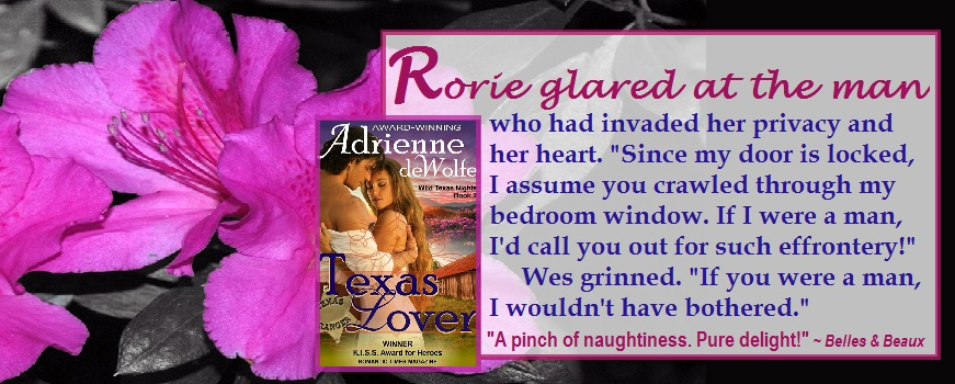 Western historical romance novel, Wild Texas Nights