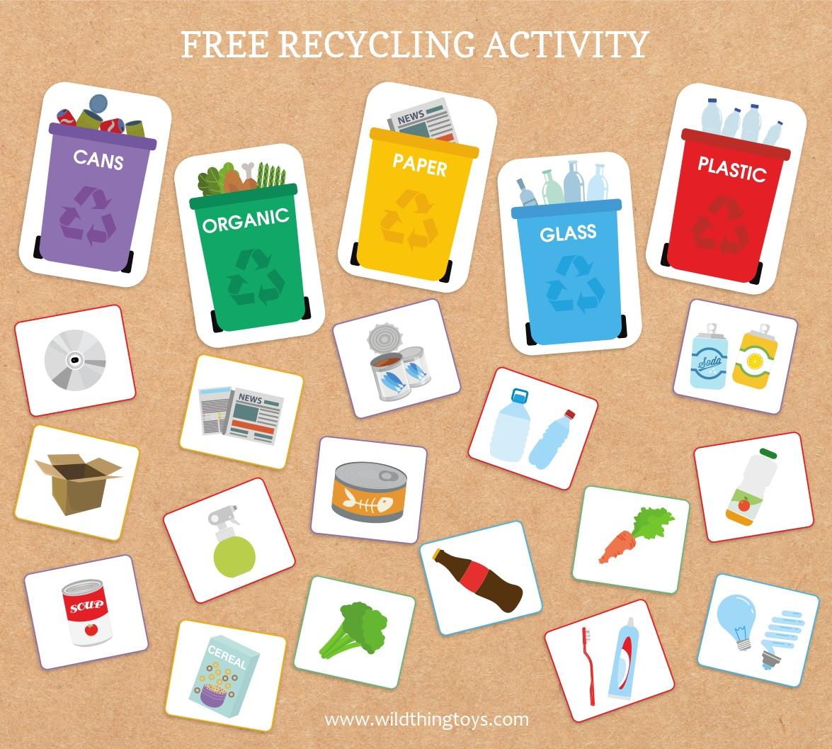 Recycle Worksheet Kindergarten