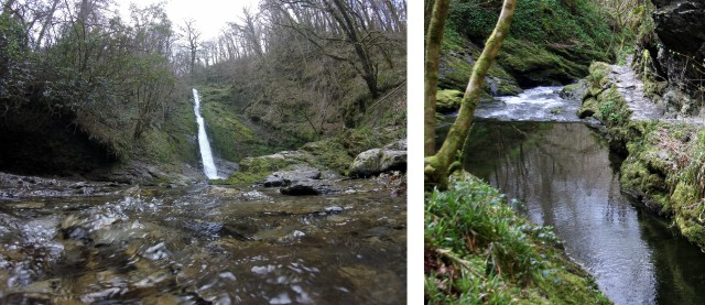 Lydford-Gorge National Trust Waterfall