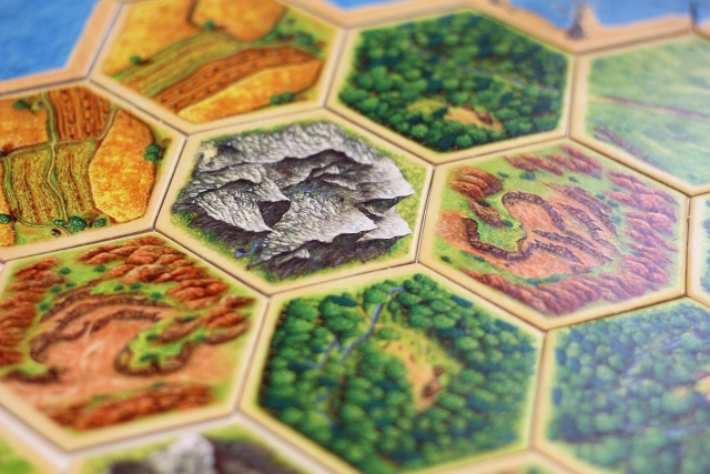 The Settlers Of Catan Board Hexagon