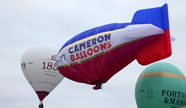 Bristol Hot Air Balloon Cameron Blimp