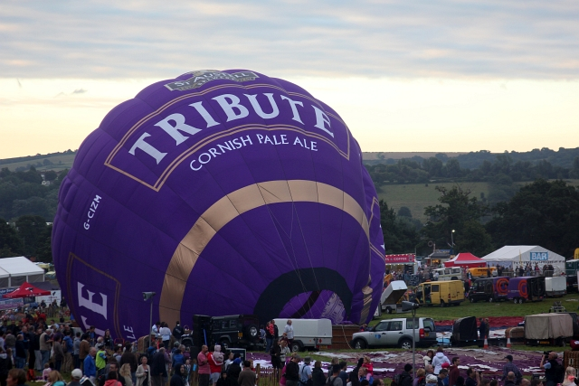 Tribute Hot Air Balloon Inflating