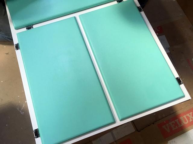 Larder Unit Painted Mint Doors