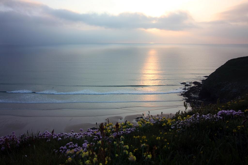 Watergate Bay Sunset Cornwall Cornish