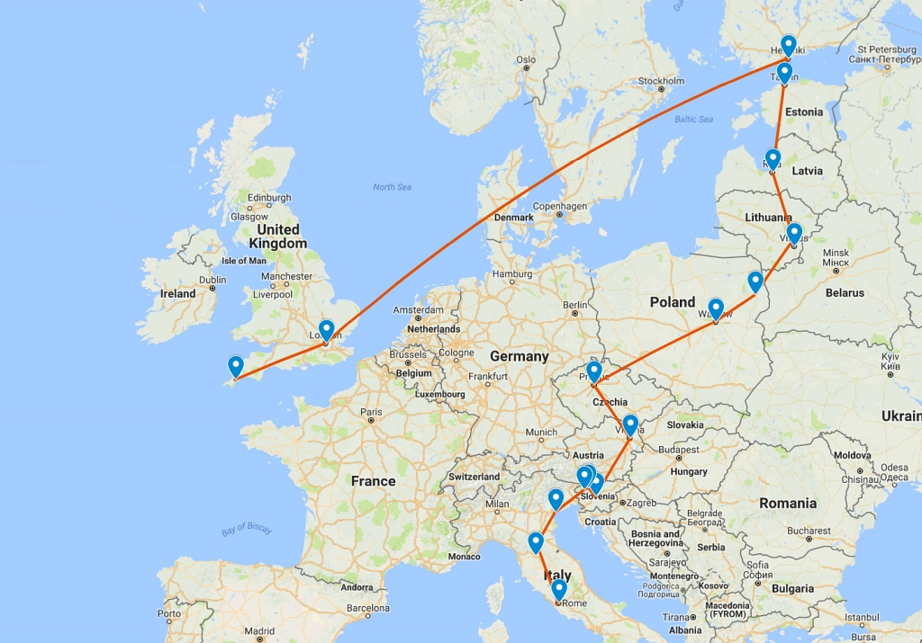 Finland to Italy Itinerary – Our Europe Trip Summer 2018