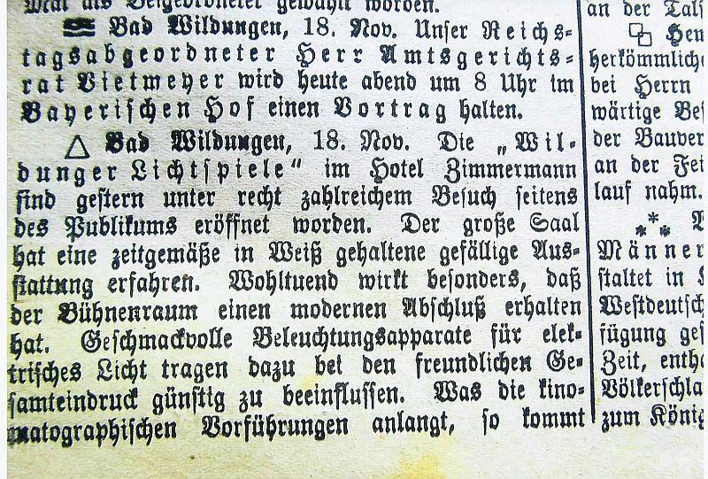 Eröffnung Central_18.11.1912