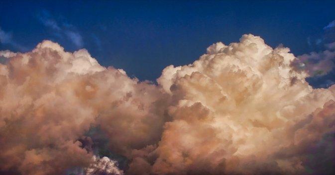 beautiful pink clouds