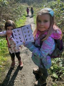Forest Schoolers look at Bird Book