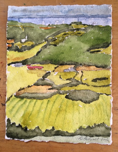 mountaintop watercolour
