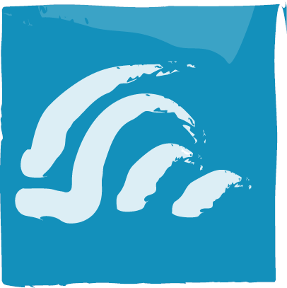 Surfing icon.